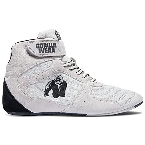 Gorilla Wear Perry High Tops Pro - weiß - Bodybuilding und Fitness Schuhe für Damen und Herren, 45