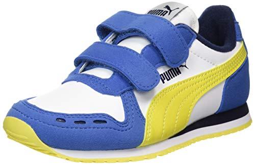 Puma Unisex Baby Cabana Racer Sl V Ps Sneaker, Weiß White-Bright Cobalt-Meadowlark, 34 EU