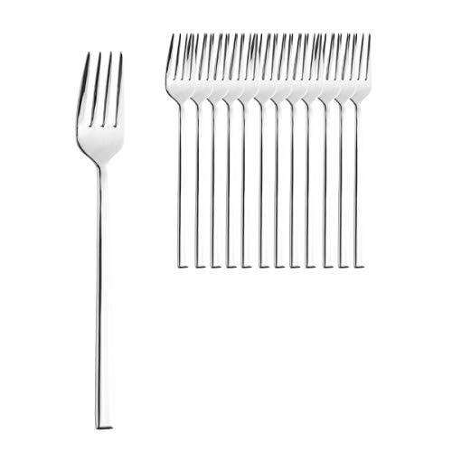 Esmeyer - Set di 12 forchette da tavola, in Acciaio Inox, 20,7 cm, Colore: Argento
