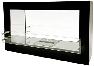 Bioflame Argento Double Sided 15500BTU Freestanding Fireplace