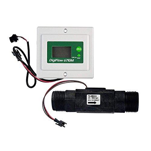 Totalizador de flujo digital y medidor de tasa de flujo, 3.0–100L/min, montado en panel con roscaBSP de 1