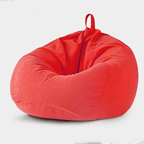 Gglloio Grote zitzak, sofa-afdekking, solide kleur, overzichtelijk design, zitverstelling voor binnen en buiten, voor volwassenen en kinderen, zonder vulling, Bean Bag Big Sofa