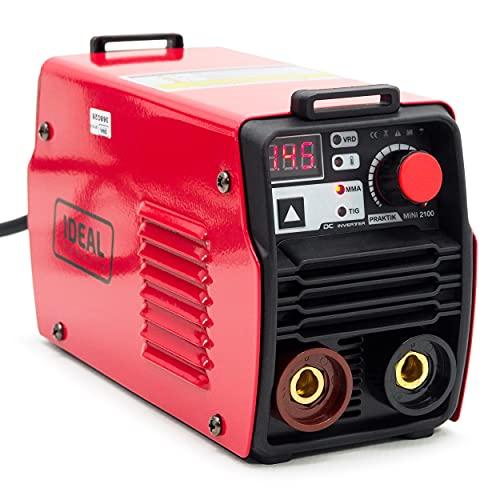 Ideal Práctica Mini 2100 MMA Inverter Soldadora Digital Práctica Máquina de Soldadura Ligera con un maletín