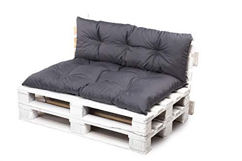 Kruger Kissen für Paletten-Sitzmöbel, Schaukel, Bank, für den Garten (Dunkelgrau, 120 x 60 cm)