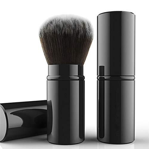 WiseLight Rétractable Pinceau Kabuki Professionnel Pinceau Fard à Joues Portable Application de Maquillage Parfaite Visage Pinceau Fond de Teint pour Poudre Liquide BB Crème Correcteur, Noir