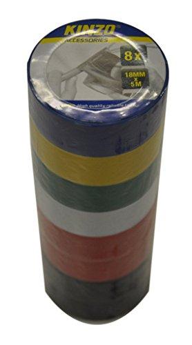 KINZO 871125279534 5 m x 18 mm Klebeband (Sojaproteinisoleat, Set