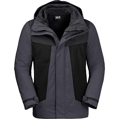 Jack Wolfskin M Apex Trail Jacket Grau, Herren Doppeljacke-3-in-1-Jacke, Größe XXXL - Farbe Ebony