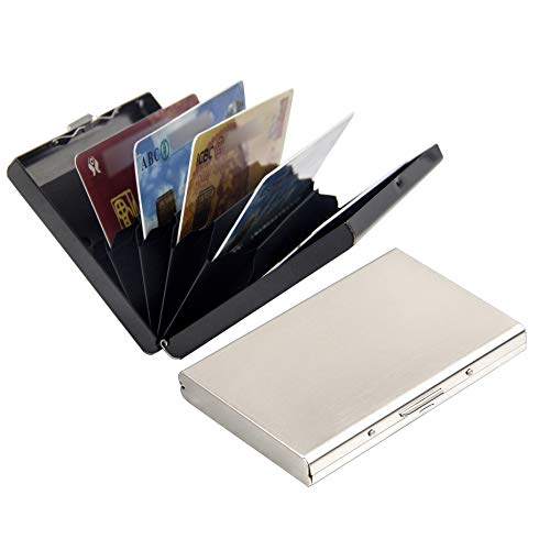 Credit Card Houder/Protector Metaal Eenvoudig Ontwerp Secure RFID Blokkeren Portemonnee Slim Card Portemonnee voor Mannen en Vrouwen Multifunctionele Bank Card Case