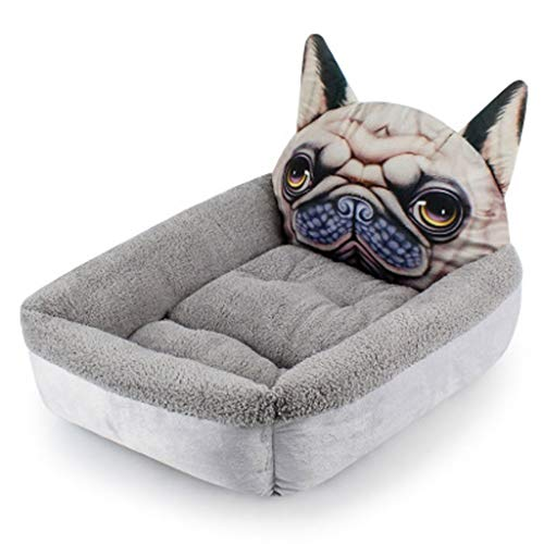 Susu 3D Driedimensionale Cartoon Animal Plein Nest Pet Nest Kleine Hond Hondenmand Nest Kattenbakvulling (Color : 02, Size : L)