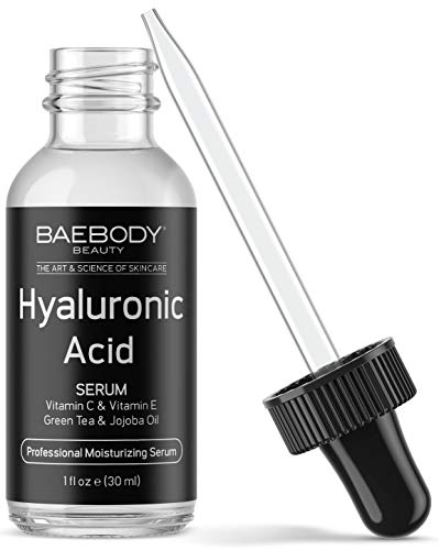 Baebody Hyaluronic Acid Serum for Face with Vitamin C & Vitamin E, 1 Ounce