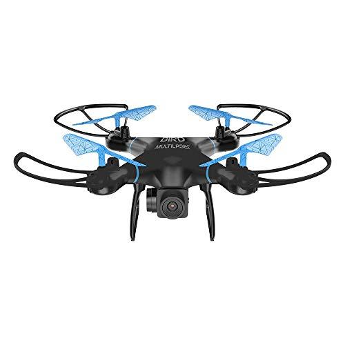 Drone Bird Alcance de 80 Metros, Multilaser, ES255, Preto/Azul