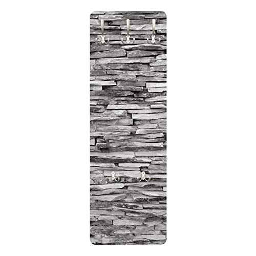 WTD mantiburi   Perchero Decorativo para Pared (Tablero de Madera DM, diseño de Pared de Piedra Natural de Arizona)