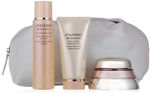 Shiseido – Bio-Performance Advanced Super Restoring Creme + Reinigungsschaum + Anti-Aging Lotion + Serum-Konzentrat, in einer Packung
