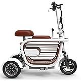 *LTLSF Mini Tricicle Elèctric Plegable, Bicicleta Elèctrica per a Adults Càrrega de Telèfon USB Portàtil Amortidor Velocitat Ajustable Bicicleta de 3 Rodes Escúter d'Oci, 80 Km Unisex,