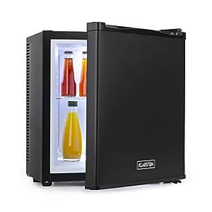 Klarstein Secret Cool mini nevera mini bar - Clase A+, 13 litros, 45 cm de altura, 0 dB, silenciosa, sin ningún tipo de ruido, enfría entre 5 y 8 °C, nevera de bebidas, Minibar, negro