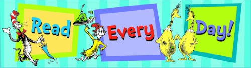 Eureka Dr. Seuss Classroom Banner, Read Every Day, 12 x 45 Inches (849663)