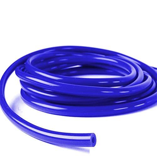 1 pieza azul tubos de coche vehículo silicona 4 mm X 5m manguera de vacío tubo tubo de silicona (16.4 ft 5 m)