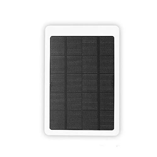 Solar Power Bank, 10000mAh Chargeur Portable De Charge Rapide Batterie Externe Avec Sortie USB Haute Capacité Double Chargeur De Téléphone Pour Les Téléphones Intelligents Et Tablettes Plus,Blanc