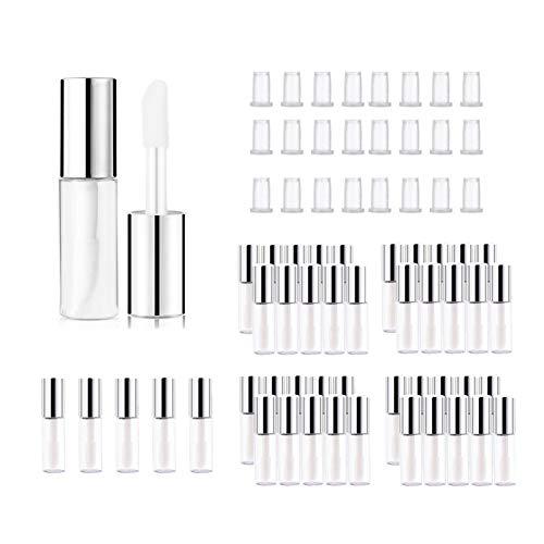 45 Stück 1.2ml Mini Lippenpflegestift Rohre Behälter Lippenstifthülsen zum Selbst Befüllen für Lippenstift Proben Reise Zubehör Reise