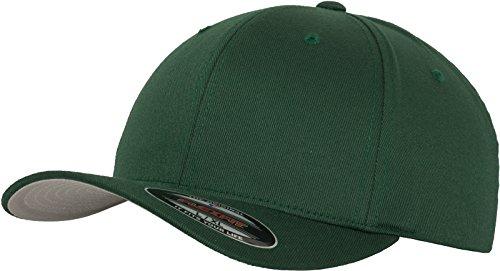 Flexfit Unisex Wooly Combed Baseballkappe, spruce, S/M
