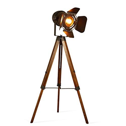 Good thing Lampadaire Trépied de personnalité créative Chambre télescopique chambre bureau industrie Iron American style Nostalgique rétro lampe sur pied