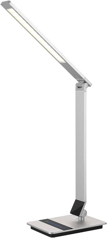 LED Tisch Leuchte Büro ALU Lampe Nacht-Licht verstellbar Touchdimmer EEK A Globo 58276