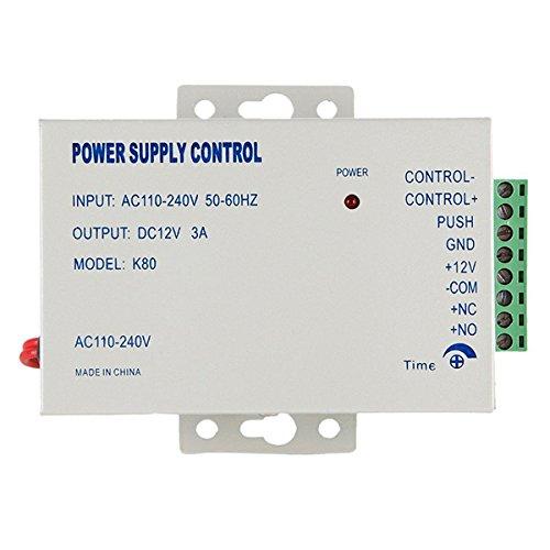 WINOMO Professionelle AC 110-240V zu DC 12V 3A Power Supply Control für Tür Access Control - 1 Stück