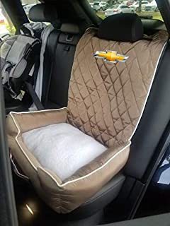 """PetBed2GO, CHEVROLET, TAN Pet Bed Cushion & Car Seat Cover, 26x20x6"""", 3.5 lbs"""