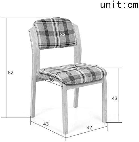 ZXL Tissu de Maison avec Chaise de Salle à Manger, Chaise de Salle à Manger de café, Chaise de Bureau d'hôtel, Chaise en Bois de Bureau Minimaliste Moderne européen (Couleur: G) E