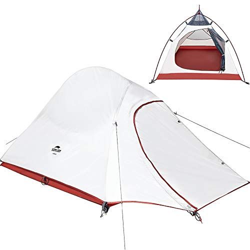 soomloom 景山 アウトドア テント 超軽量 組立簡単 二層テント グランドシート付き 水圧2000 2人用 (2人用(グレー210Tポリエステル)