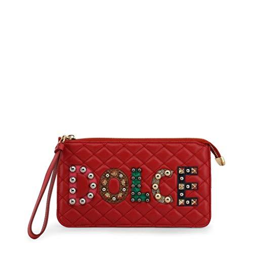 Dolce&Gabbana Pochette Handtasche Damen Tasche Leder Clutch Bag Rot
