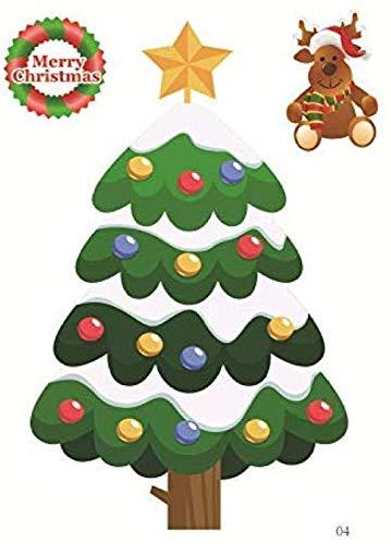 Winkel Raam Koelkast Sneeuwman Kerstman Sneeuwvlok Gift Kerstmis Boom Muurstickers Home Decoraties Maat: 12 * 16cmKerstmis Home Decor