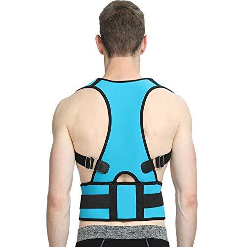 Whiie891203 Corrector de postura, soporte completo de hombro y espalda para mujeres y hombres, soporte de postura ajustable para mejorar la mala postura, hombros, espalda, cuello y dolor, De algodón, verde oscuro, Large