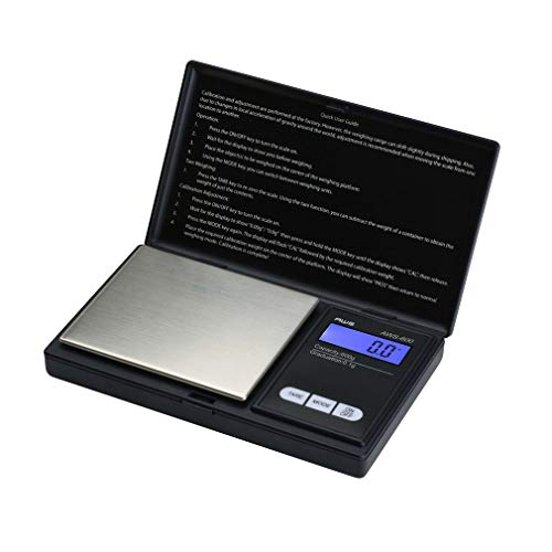 American Weigh Scale AWS Series Digital Pocket Weight Scale, Black, 600G x 0.1G (AWS-600-BLK)