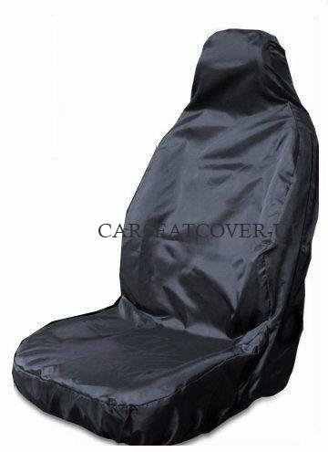 Carseatcover-UK Heavy Duty Black Waterproof Car Seat Cover - Single (Airbag...