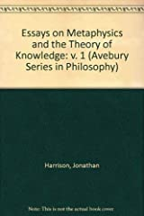 Essays on Metaphysics and the Theory of Knowledge (Avebury Series in Philosophy) Hardcover