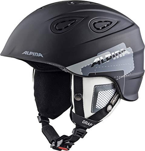 ALPINA GRAP 2.0 Skihelm, Unisex– Erwachsene, black-grey matt, 54-57