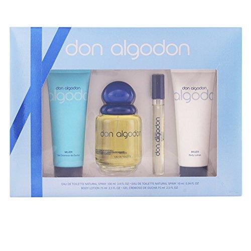 Don Algodon Set de Agua de Colonia, Agua de Colonia Mini, Gel de Ducha y Loción Corporal - 260 ml