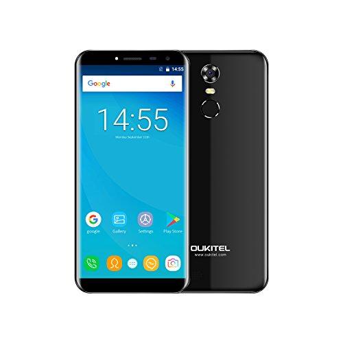 OUKITEL C8 - 5,5' 3G Smartphone Libres, Pantalla de Arco 2.5D, Android 7.0 Quad Core 2GB+16GB, Sensor de Huella Dactilar, Cámara 13MP+5MP, Doble SIM Teléfono Móvil