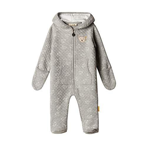 Steiff Unisex Baby Einteiler Spieler, Grau (Quarry 9007), 74 (Herstellergröße: 74)