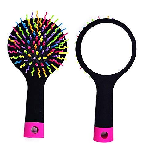 Inception Pro Infinite - Haarbürste - antistatisch - magisch - Regenbogen - Spiegel - Haar - schwarze Farbe - originelle Geschenkidee
