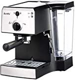 Espresso Machines 20 Bar with Milk Frother Wand for Espresso, Cappuccino, Latte and Mocha, 1.2L Water Tank, Double Temperature Control System, White, 1350W