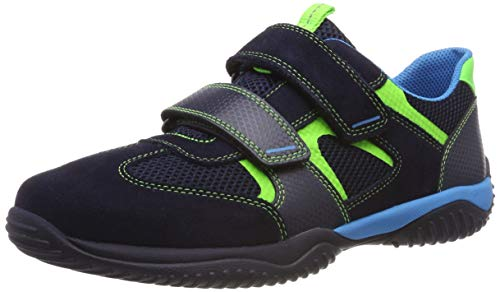 Superfit Jungen Storm Sneaker, Blau (Blau/Grün 81), 28 EU