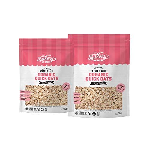 Bakery On Main, USDA Organic, Gluten-Free Oats, Vegan & Non GMO, Purity Protocol - Organic Quick Oats, 24oz (Pack of 2)