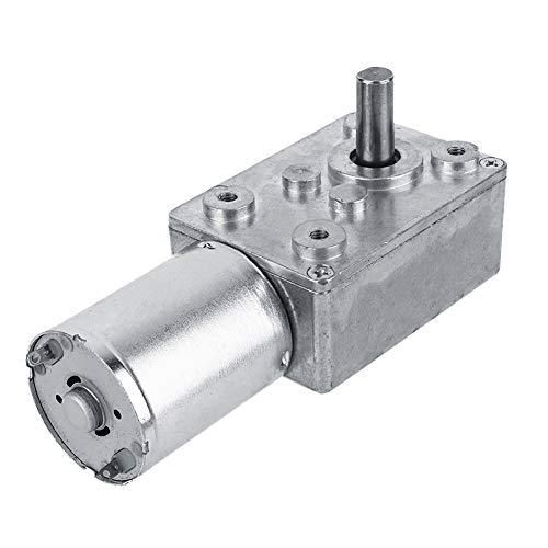 Caja de engranajes Motorreductor de gusano sinfín de alto par reversible Caja de cambios DC 12V Motor eléctrico de reducción CW/CCW para ventanas un cabrestante en miniatura para abridor(20RPM)