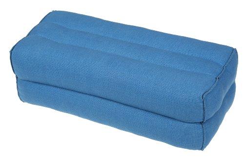 Handelsturm Cuscino da 35 x 15 x 10 cm con imbottitura in Kapok, perfetto per fare meditazione, yoga e rilassarsi, cotone, blu chiaro, 35x15x10 cm