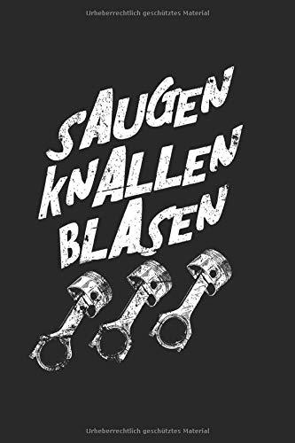 SAUGEN KNALLEN BLASEN: 6X9 Zoll Notizbuch – Liniert