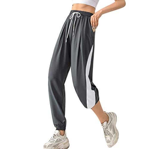 PengBO Pantalones de Jogging de Moda de Mujeres Sudor absorbiendo Pantalones Deportivos de algodón,Azul,L