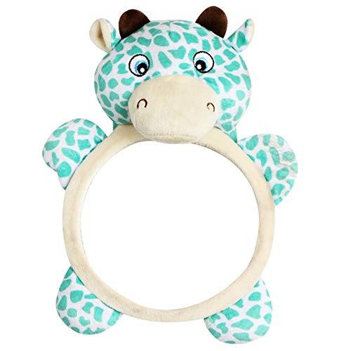 Divertido diseño Kawaii, Funda de Asiento Trasero de Coche con Espejo para bebé para bebés, niños, Vista Trasera de Seguridad, Juguetes, Regalo