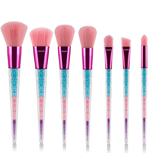 Maquillage Pinceaux Set 7 Pcs Premium Synthétique Fondation Kabuki Mélange Pinceau Poudre De Blush Correcteur Ombres À Paupières Maquillage Pinceaux,D